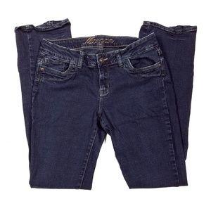 Delias Morgan Fit Dark Wash Straight Leg Jeans